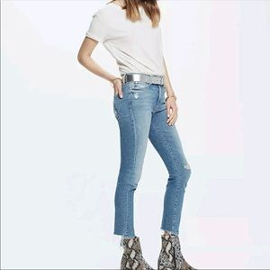 MOTHER High Waisted Rascal Ankle Jeans in Love Gun